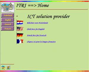 De itri website van het begin van deze eeuw.