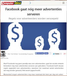 Facebook meer advertenties